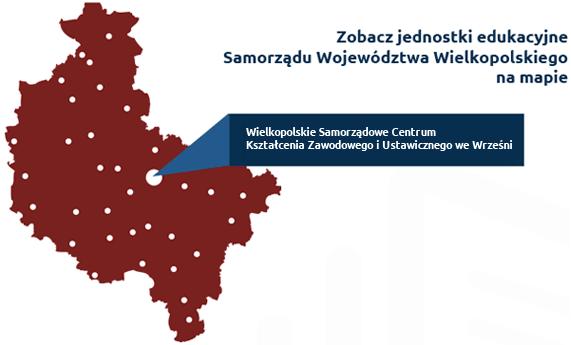 Mapa jednostek edukacyjnych Samorządu Województwa Wielkopolskiego